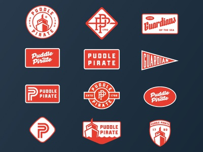 Puddle Patches patch red apparel hats typography patches