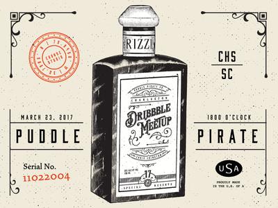 Dribbble Meetup | CHS south carolina presentation poster clothing talk brand puddle pirate charleston dribbble meetup