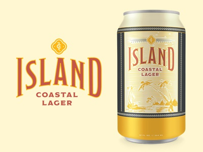 ICL 2 monogram cuba lager coastal island design can beer