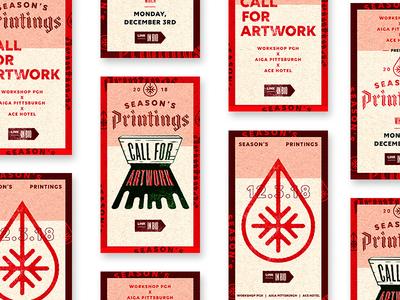 Season's Printings | PGH screen mockup instagram christmas holiday printing press screen printing squeegee printing pittsburgh pgh aiga