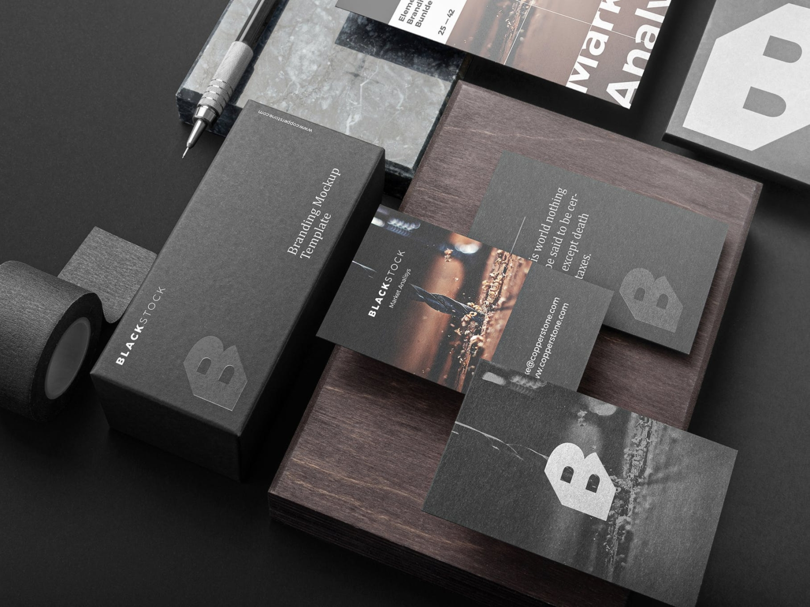 Blackstone Branding Mockup blackstone brand identity identity mockup ux typography vector logo 3d ui illustration graphic design design branding