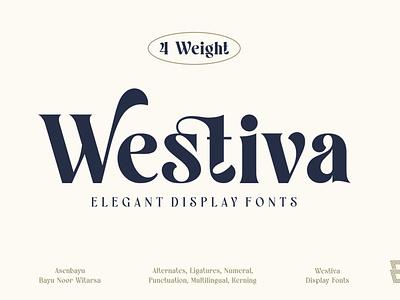 Westiva Fonts Family font typography vector 3d logo illustration graphic design design branding