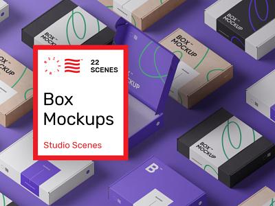 Box Mockups box mockup mockup typography ux 3d vector ui logo illustration graphic design design branding