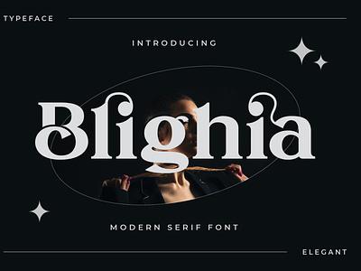 Blihgia Display Font display font display font typography ux logo vector ui 3d illustration graphic design design branding