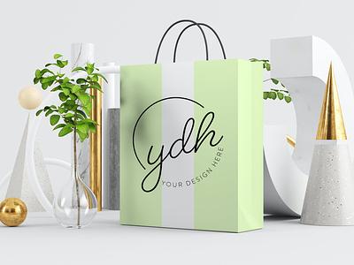 Shopping Bag Mockups bag mockup shopping bag mockup typography ux vector ui 3d logo illustration graphic design design branding