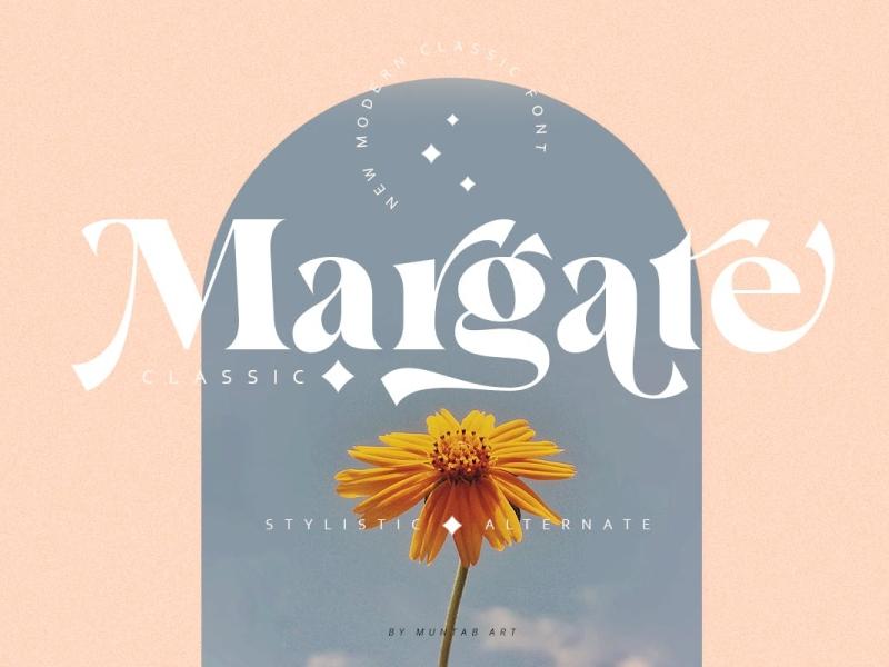 Margate   Modern Classic Font display font font typography ux vector ui 3d logo illustration graphic design design branding