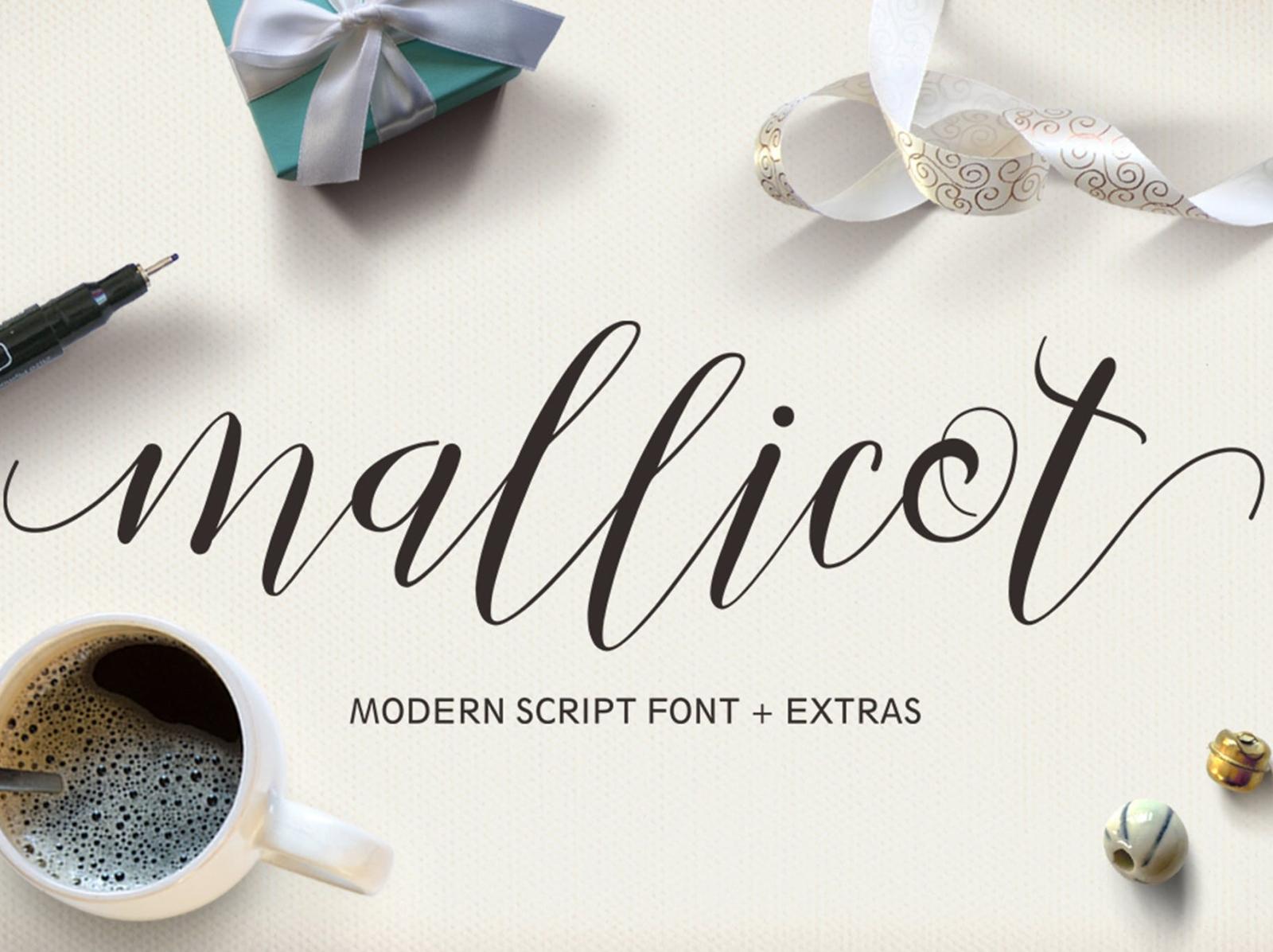 Mallicot Script Font elegant display font display script font typography ux ui vector 3d logo illustration graphic design design branding