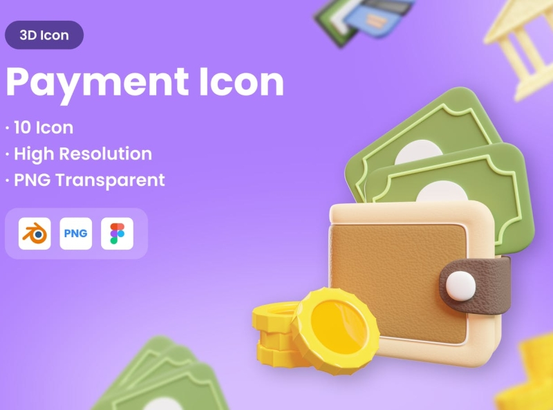 3D Payment Icons payments business icon typography ux vector 3d ui logo illustration graphic design design branding