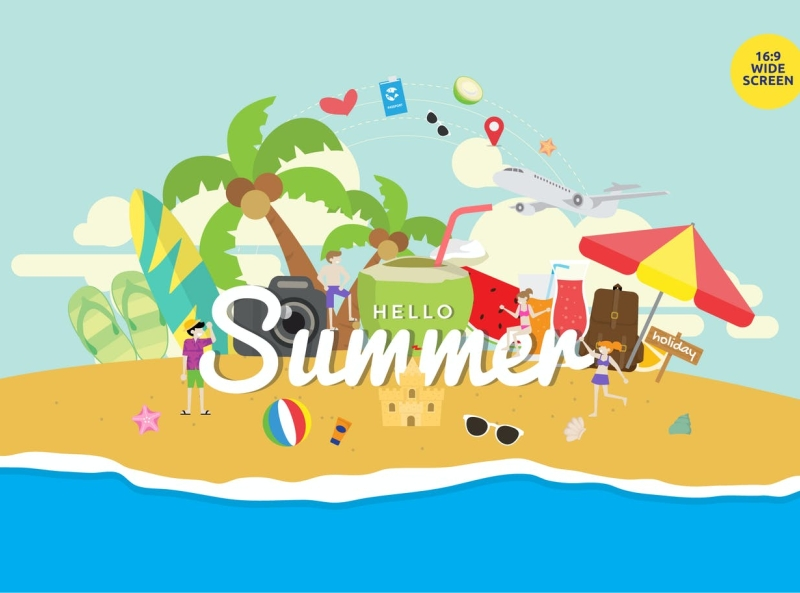 Tropical Summer Holiday Party Concept party holiday summer tropical font typography ux vector ui 3d logo illustration graphic design design branding