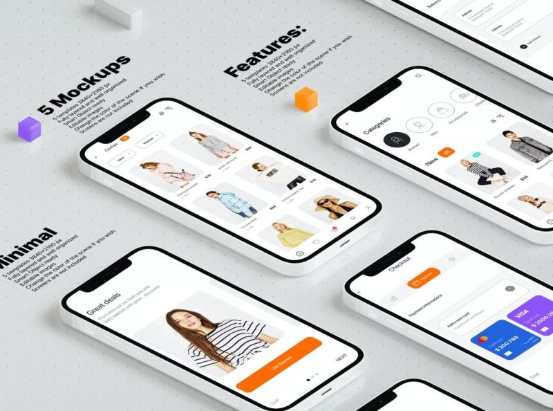 Smartphone Mockups smartphone mockup mockups mockup smartphone typography ux vector 3d ui logo illustration graphic design design branding