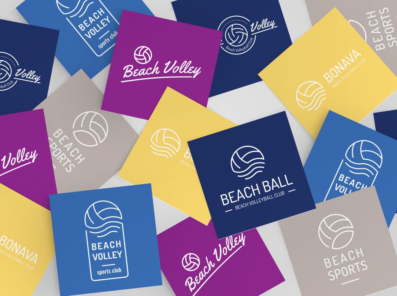 Volleyball Logo Set logo design mockup volleyball typography ux ui vector logo 3d illustration graphic design design branding