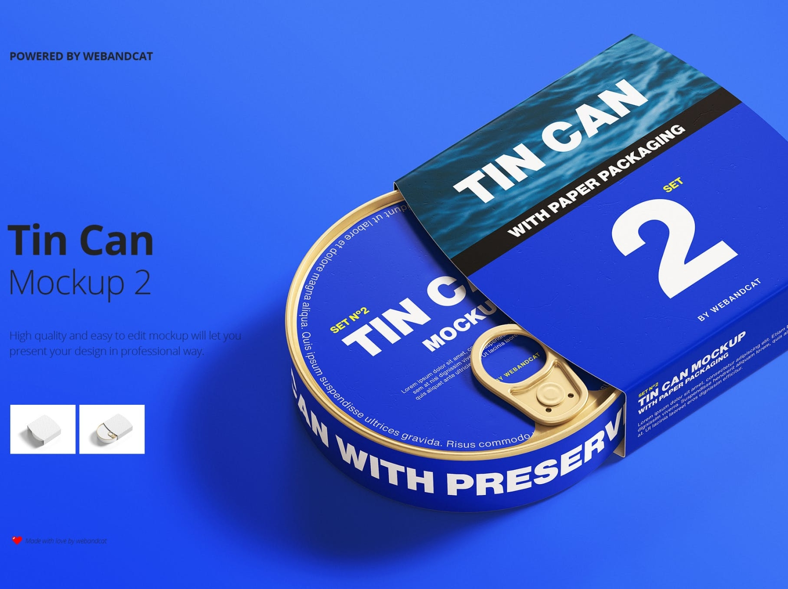 Tin Can Mockup with Paper Packaging can mockup packaging package design packaging design mockup paper packaging tin can typography ux vector ui 3d logo illustration graphic design design branding