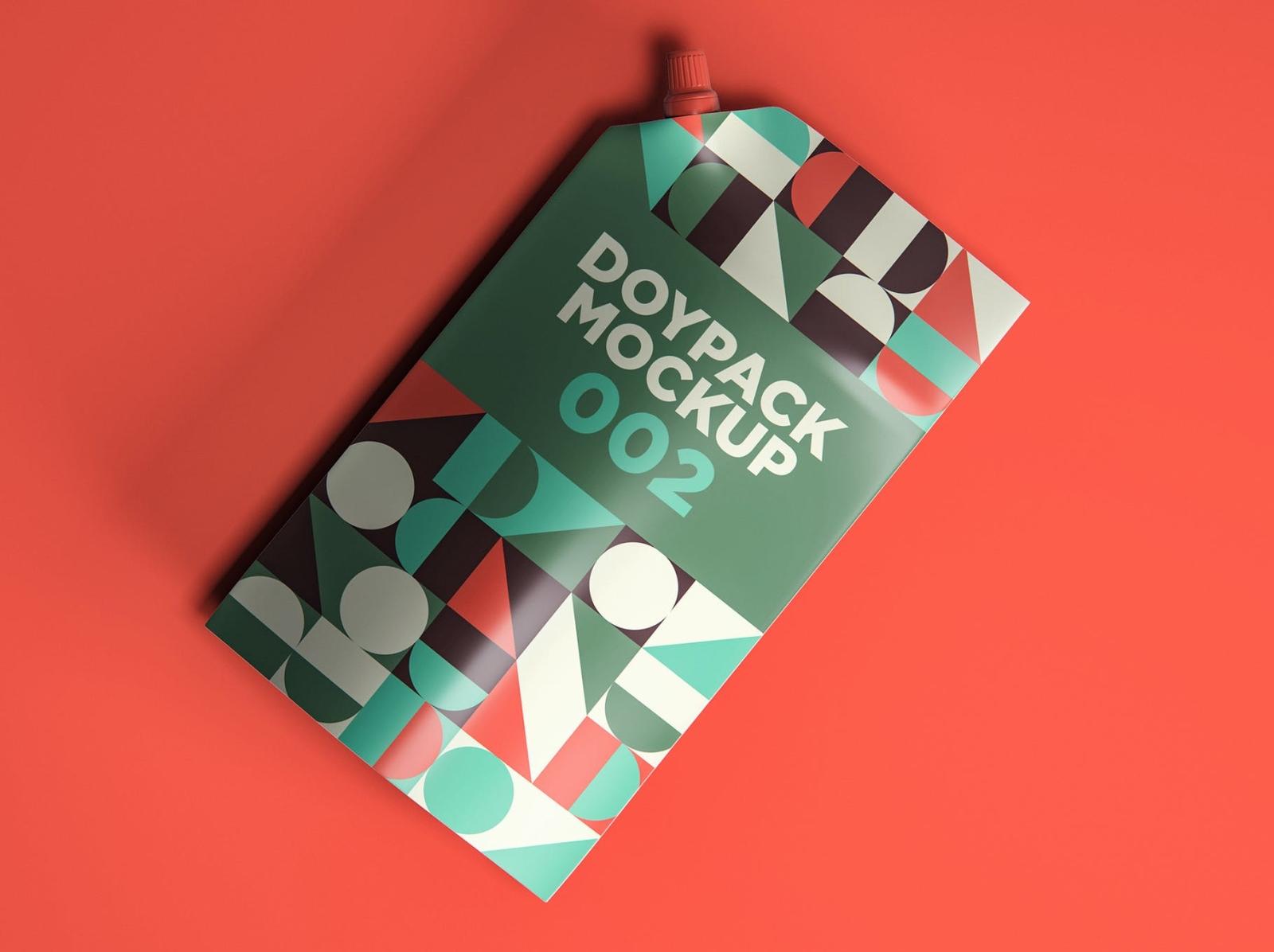 Doypack Mockup packaging design package packaging mockup doypack typography ux ui vector logo 3d illustration graphic design design branding