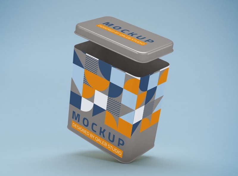 Tin Can Mockup can mockup package packaging mockup tin can typography ux vector 3d ui logo illustration graphic design design branding