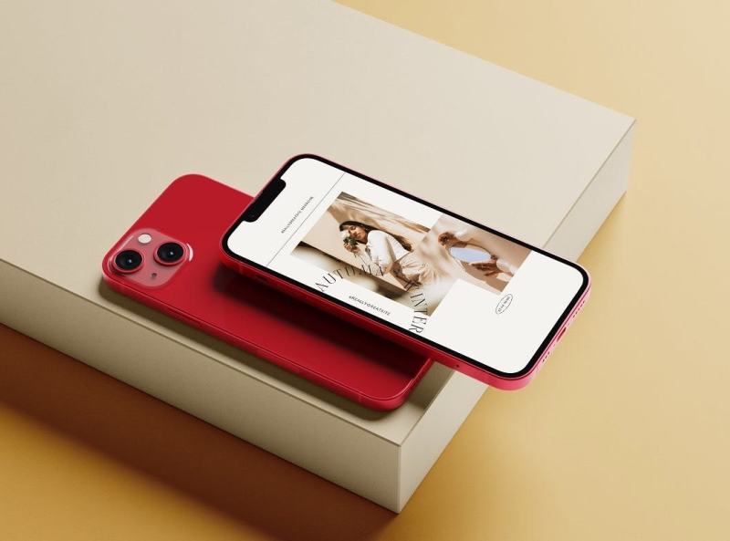 iPhone 13 Mockup mockups smartphone screen iphone 13 mockup iphone 13 iphone mockup typography ux vector 3d ui logo illustration graphic design design branding