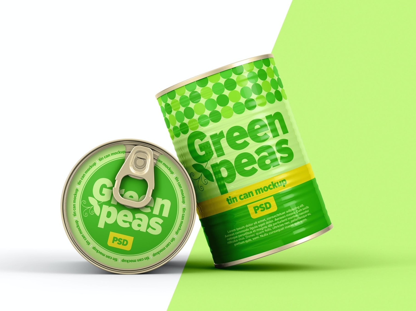 Tin Can Mockup packaging design package packaging mockup tin can typography ux vector ui 3d logo illustration graphic design design branding