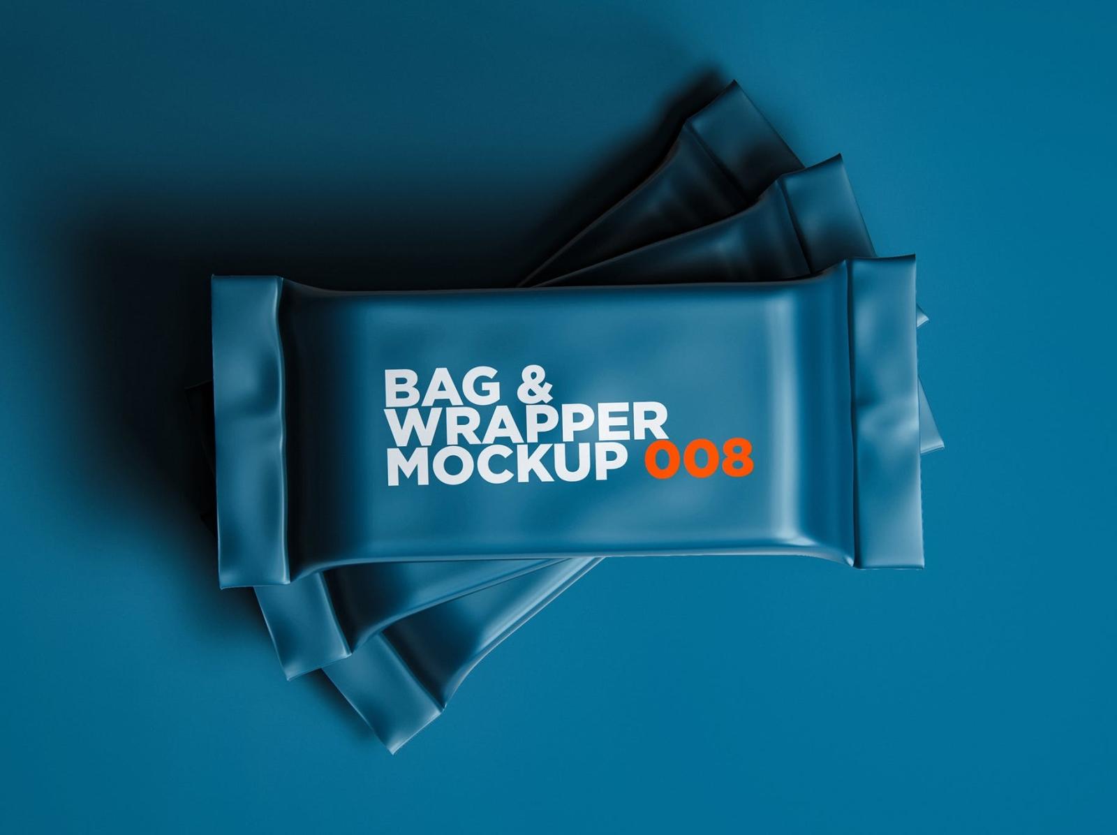 Bag & Wrapper Mockup packaging wrapper mockup wrapper bag mockup bag typography ux vector ui 3d logo illustration graphic design design branding