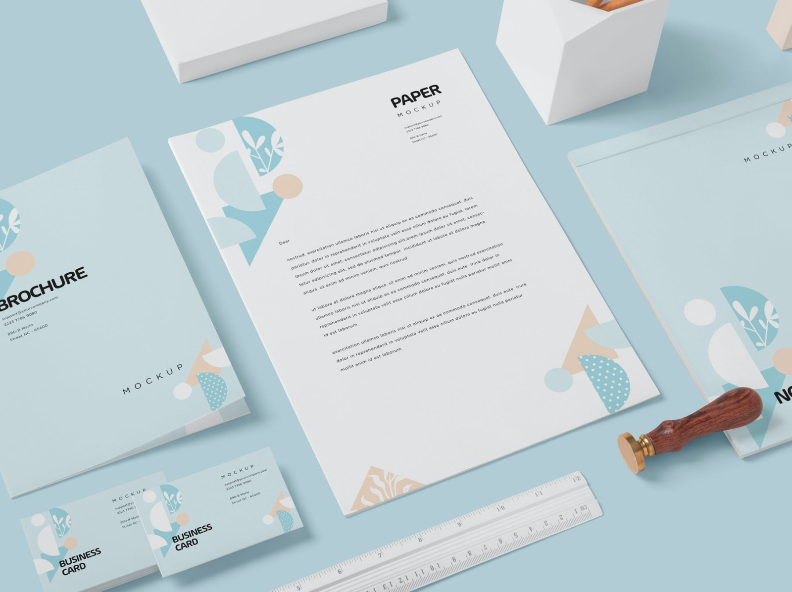 Stationery Mock Ups branding mockup mockup stationery typography ux vector 3d ui logo illustration graphic design design branding