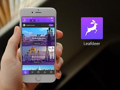 Leafdeer Concept App ux ui travel app travel ios icon concept app