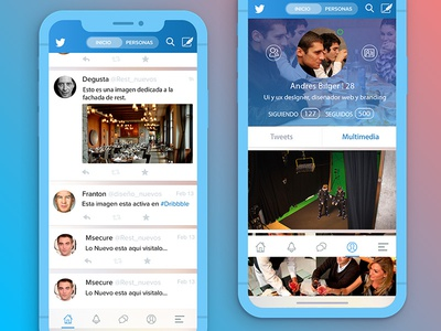 Twitter Redesign vector psd ux ui iphone x apple ios ios11 app concept redesign twitter