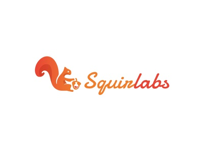 Squirlabs logo branding brand graphic design labs psd ai design vector logo squirrel