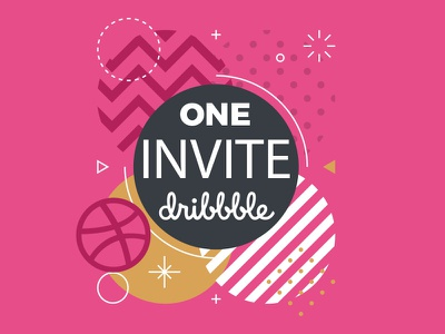 One Invite new designers designers follow vector design dribbble invite