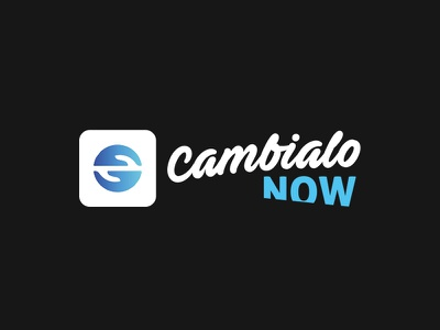 Cambialo now logo graphic design design color branding brand logo