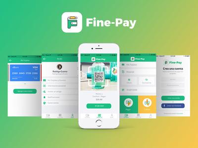 Fine Pay Ui & Ux design art finepay green pay app pay app ux ui