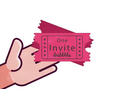one Invite dribbble new designers designers follow vector design dribbble invite