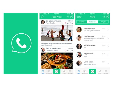 Whatsapp redesign ios app art redesign ux ui whatsapp