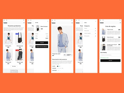 Onlinestore ui, ux design for mobile website bots. visual art design bots responsive brand webdesign ux ui website