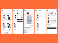 Onlinestore ui, ux design for mobile website bots.