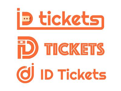 Id Tickets Logo flat graphic design design color branding brand logo