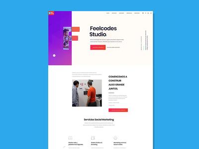 Feelcodes new website ux ui art website feelcodes brand webdesign