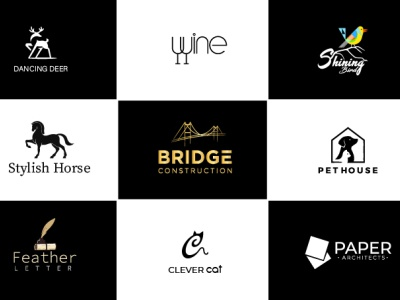 i will do business logo design   minimal luxury brand in 24hr clever monogram logo luxary logo flat illustration business logo professional and modern logo design creative and professional  logo branding