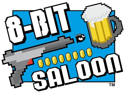 8 Bit Saloon Logo logo 8 bit logo 8-bit