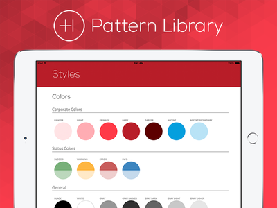 Healthicity Pattern Library product design style guide pattern library