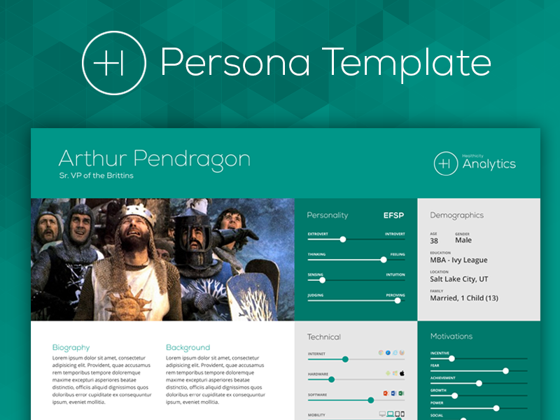 User Persona Template by Trev Poulson - Dribbble