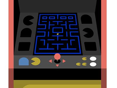 Pacman Illustration illustration retro
