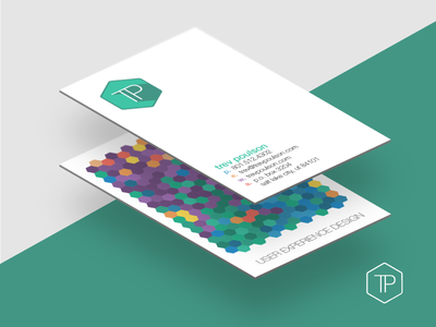 Business Cards ux business cards flat