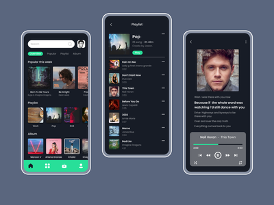 Music Player App uiuxdesign dark app music player uidesign