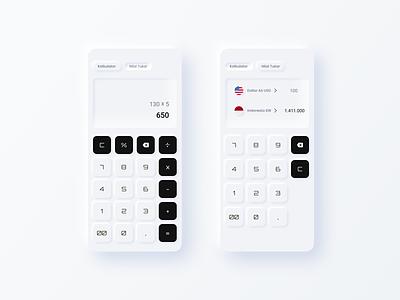 Calculator App mobile design calculator neumorphic uidesign figma