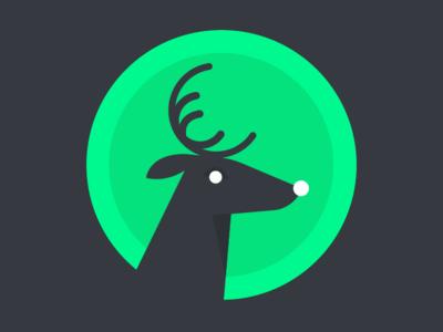 Reindeer design illustrator rudolf deer animal reindeer character flat color block vector illustration