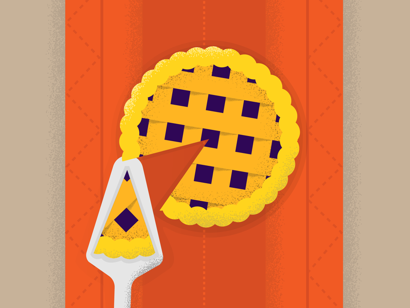 P for pie 36days-p 36daysoftype blueberry autumn food pie texture textures color block vector illustration