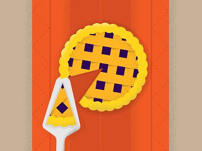P for pie 36days-p 36daysoftype blueberry autumn food pie texture textures color block vector illustration