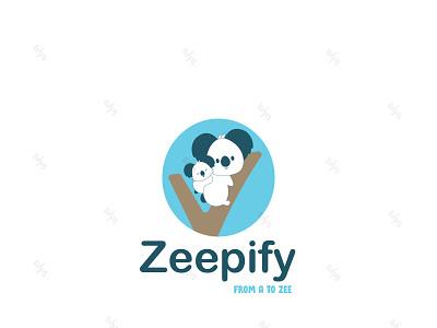 Zeepify koalas koala illustration vector logo animation custom design illustrator design branding kids baby brand identity logo design minimal amazon cute graphic design