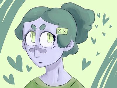 pastel big brain digitalpainting characterdesign illustration