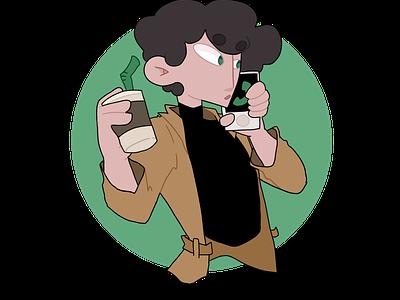 Man in a Hurry digitalart design illustration characterdesign