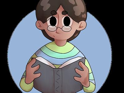 bookworm digitalpainting digitalart design illustration characterdesign
