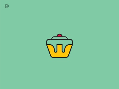Royal cupcake logo dual meaning crown logo crown royal cupcake royal cupcake logo cupcake monogram minimal geometic dailylogochallenge symbol mark icon vector identity brand logo design logo branding